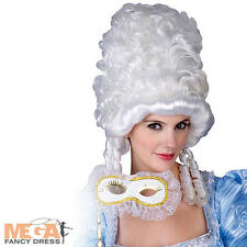 Marie Antoinette White Masquerade Wig Fancy Dress French Royal Costume Accessory