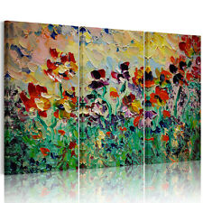 Modern HD Canvas Prints Home Decor Wall Art Painting- Abstract Flowers Unframed