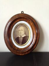 Rare Framed Antique William Shakespeare Portrait Picture Photograph Collectable