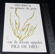 CHROMO 1959 IMAGE PIEUSE CATHOLICISME HOLY CARD JEC JECF 30e anniversaire