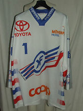 MAGLIA SHIRT TRIKOT ICE HOCKEY GHIACCIO MATCH WORN KLOTEN FLYERS n° 1