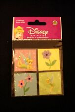 Sandylion-Disney- Tinkerbell & Flowers Square Glitter Stickers- Brand New