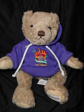 "Herrington Plush Stuffed Signature Brown 12"" Teddy Bear  2007 Hard Rock Hotel"
