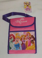 Disney Princess Lunch Bag Non Woven Cinderella Little Mermaid Snow White Pink