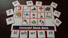 PHONICS - CONSONANT BLENDS- MATCHING GAME- SOUNDS & PICTURES- RECEPTION YR 1 & 2