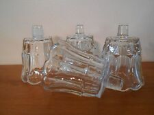 Clear Starlight Votive Cups Lot of 4 Homco Home Interiors