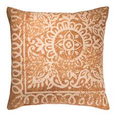 ❤️Block Print Cotton Cushion Cover RED EARTH 45cm x 45cm Terracotta Fair Trade