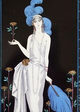 Art Deco Repro Mounted Print 'La Roseraie' by Georges Barbier