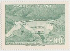 (CH612) 1969 CHILE 40c green hydro electric dam (A)