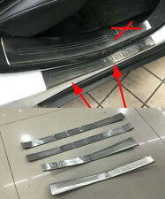 Door Sill Bumper Protector for 2014-2016 Jeep Cherokee Cover Scuff Plate Outer