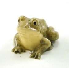 Vintage Chinese Japanese Fortune Lucky Frog Resin Figurine Charm NETSUKE 2""