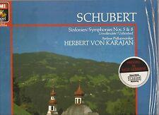 KARAJAN/Berlin Philharmonic~SCHUBERT Symphonies GERMAN LP audiophile DMM digital