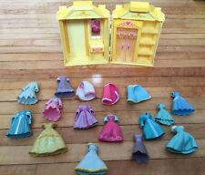 Lot of Polly Pocket Disney Princess Gowns & Snow Whites Wardrobe Carry Case