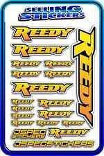 REEDY RC STICKERS DRIFT TOURING MOTOR ESC BATTERY 1/12 1/10 RACE YELLOW ORANGE B