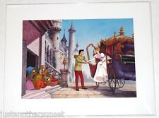 "Disney Art Print Lithograph 11""x14"" Princess Cinderella Prince Charming Carriage"