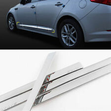 Chrome Side Door Garnish Molding Trim Skirt Line 4p For 2011-2015 Kia Optima K5