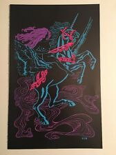 Blacklight Poster Pin-up Print Gypsy Woman Jungle Princess Double Sided