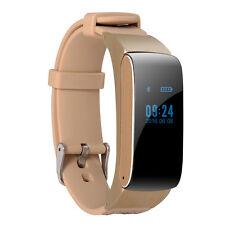 DF22 2-in-1 Bluetooth Smart Sport Bracelet Headset Earphone Watch Golden