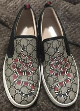 Gucci Dublin Slip On Sneaker Shoes Mens Size 10 Beige/Bony Authentic