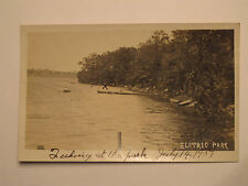 Chatham NY *Electric Park RPPC 1907 Fishing  Amusement  Columbia Co  E.O. Powers