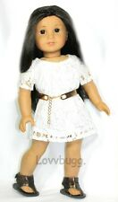 "Indie White Lace Dress for 18"" American Girl Doll  Best Selection Clothes Found!"