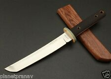 CASTONF Samurai Survival Fixed Knives, G10 Handle Wooden Sheath Camping Knife.