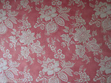 "SANDERSON CURTAIN FABRIC ""Lyon"" 2.8 METRES RUSSET FRENCH FLORAL  FABIENNE COLL"