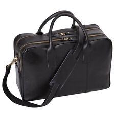 Leathario Men's Shoulder Leather Laptop Briefcase Business Office Bag