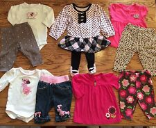 Baby Girl Outfits Lot Set 0-3 3-6 3 Months Dress Jeans Winter Fall 2 Piece Set