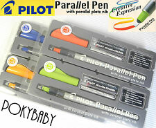 Pilot Parallel pen 4 size 1.5mm+ 2.4mm+ 3.8mm+ 6.0mm + 24pcs cartridge BLACK INK