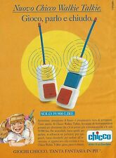 X7307 Nuovo Chicco Walkie Talkie - Pubblicità 1994 - Vintage advertising