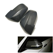 2PCS Right & Left Carbon Fiber Door Side Mirror Covers Shells For BMW 2009-2014