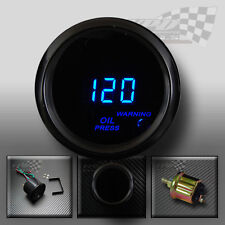 "Oil pressure digital gauge 2"" / 52mm smoked face for custom dash pod"