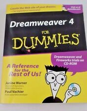 EUC Dreamweaver 4 for Dummies Website Building Help Manual Fireworks w/ CD ROM