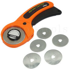 45mm Rotary Cutter Quilters Sewing Fabric Craft Quilting Cutting Tool&5pc Blades