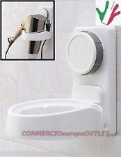 Porta asciugacapelli Supporto fono phon a muro per bagno a ventosa Stock