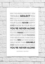 Lady Antebellum - Never Alone - Song Lyric Art Poster - A4 Size