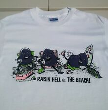 Vintage 1987 CALIFORNIA RAISINS Raisin Hell At The Beach T Shirt 50/50 L 42-44