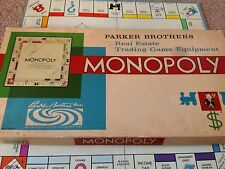 Vintage 1961 Parker Brothers Boardgame Monopoly  Real Estate Trading Game
