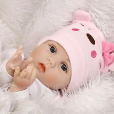 22''Lifelike Baby Reborn Newborn Silicone Vinyl Girl Dolls +Clothes + Pacifier