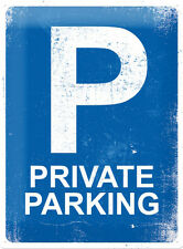 Private Parking Space Observar Garaje Warning Placa Grande 3D Metal Con relieve