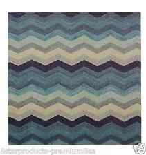 NEW AMALFI BLUE CHEVRON PLACEMAT SINGLE RETRO DESIGN COASTAL BLUE LEATHER LOOK
