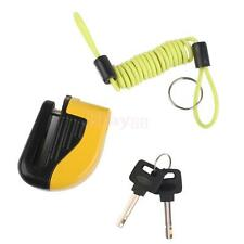 Motorcycle Bike Brake Disc Lock Security Alarm Cable Set for Honda Harley