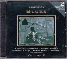 2 CD ESSENTIAL BLUES 36T SONNY BOY WILLIAMSON/ROBERT JOHNSON/BUHKA WHITE/LEADBEL