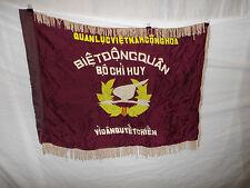 flag95 Vietnam Vietnamese RVN Ranger flag Biet Dong Quan Bo Chi Huy white fringe