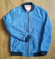 Levi's Made & Crafted Camoscio Bomber Blu Imperiale S esaurita RRP £ 650 NUOVO