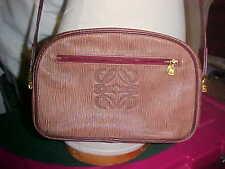 Vintage LOEWE  Brown LEATHER SIGNATURE LOGO (puzzle) CROSS BODY MESSENGER  BAG