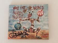 SIGNED/AUTOGRAPHED PIL JOHN LYDON - WHAT THE WORLD NEEDS NOW. JOHNNY ROTTEN