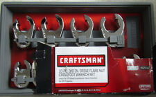 CRAFTSMAN 10-PC. 3/8-IN.DRIVE FLARE NUT CROWFOOT WRENCH SET METRIC 942048