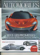 AUTOMOBILES CLASSIQUES n°222 NOVEMBRE2012 MACLAREN BMW PORSCHE TALBOT par FIGONI